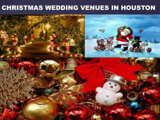CHRISTMAS WEDDING VENUES IN HOUSTON