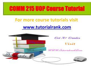 COMM 215 learning consultant / tutorialrank.com