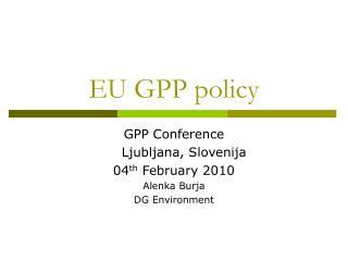 EU GPP policy