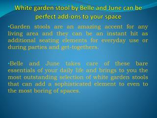 Buy White Garden Stools