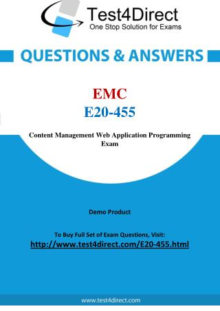 EMC E20-455 Test - Updated Demo