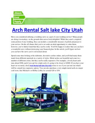 Inflatable Arch Rental Salt lake City Utah