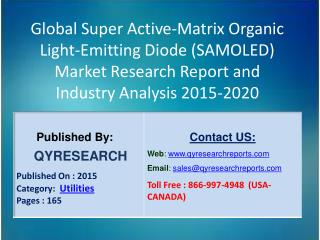 Global Super Active-Matrix Organic Light-Emitting Diode (SAMOLED) Market 2015 Industry Growth, Outlook, Insights, Shares