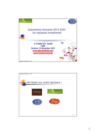 subventions romania for industry 2014 2020