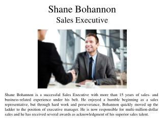 Shane Bohannon Sales Executive
