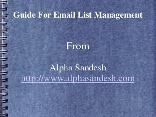guide for email list management
