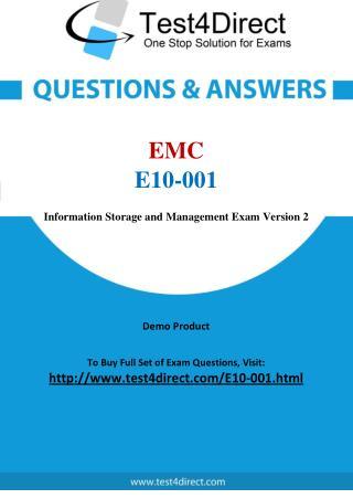 EMC E10-001 Exam Questions