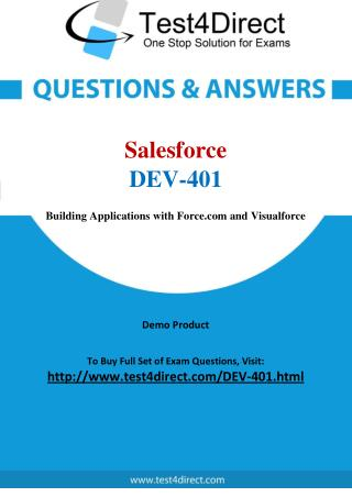 Salesforce DEV-401 Exam Questions