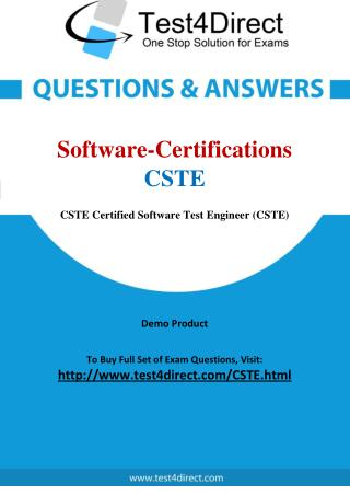 Software Certifications CSTE Certified Software Tester Exam