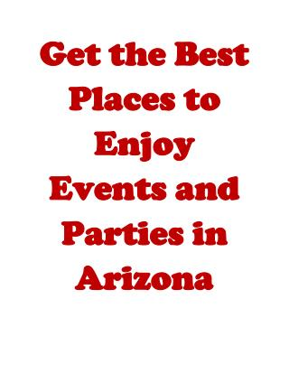 Party places Arizona