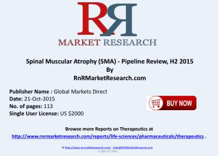 Spinal Muscular Atrophy Pipeline Review H2 2015