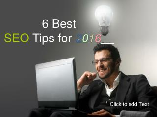 6 Best SEO Tips for 2016