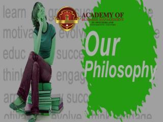 ABMS SWITZERLAND UNIVERSITY Philosophy