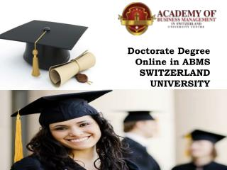 ABMS SWITZERLAND UNIVERSITY Executive Bachelor Degree Online