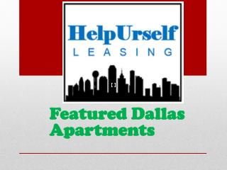 Featured Dallas Apartments