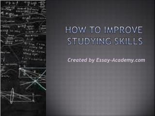 How to Improve Studying Skills