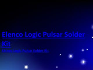 Elenco Logic Pulsar Solder Kit
