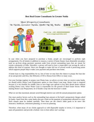 Best Real Estate Consultants In Greater Noida