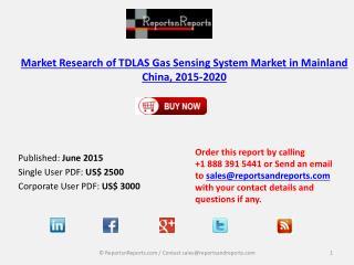 Analysis on TDLAS Gas Sensing System Market in Mainland China 2020