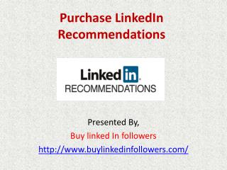 Purchase LinkedIn Recommendations
