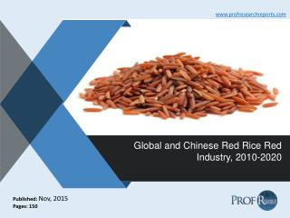 Global and Chinese Red Rice Red Industry Trends, Growth, Analysis, Share  2010-2020