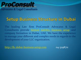 Setup Business Structure in Dubai