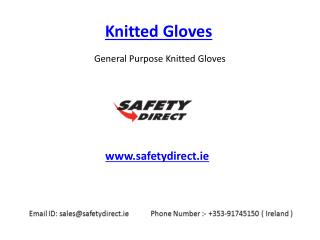 Safety Knitted Gloves in Ireland at SafetyDirect.ie