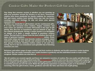 Cookie Gifts Make the Perfect Gift for any Occasion
