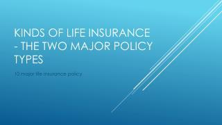 two major life insurance