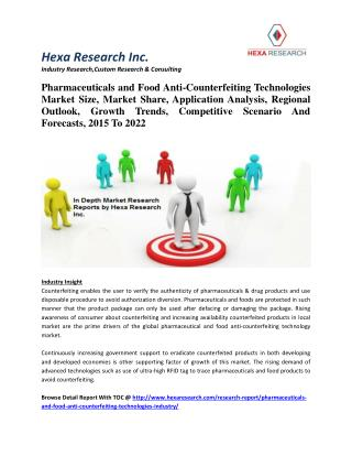 Pharmaceuticals and Food Anti-Counterfeiting Technologies Market Size, Market Share, Application Analysis, Regional Outl