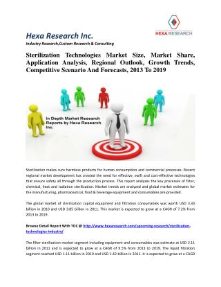 Sterilization Technologies Market Size, Market Share, Application Analysis, Regional Outlook, Growth Trends, Competitive