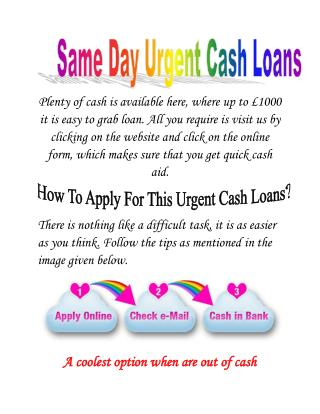 Same Day Payday Loans: Immediate Assistance For UK Person