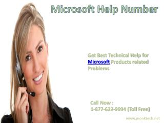 Call Microsoft helpline 1-877-632-9994 tollfree number for Microsoft help