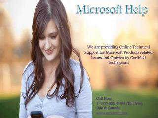 Microsoft Helpline Number 1-877-632-9994 tollfree for Help