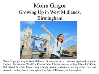 Moira Grigor Growing Up in West Midlands, Birmingham