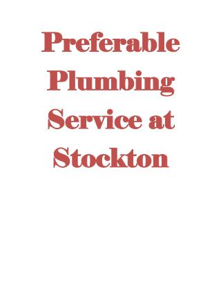 plumber Stockton ca