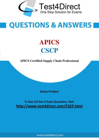 CSCP APICS Exam - Updated Questions