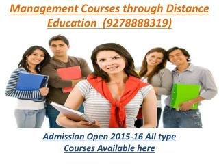 Admission in Distance Education MBA in India (9278888319)