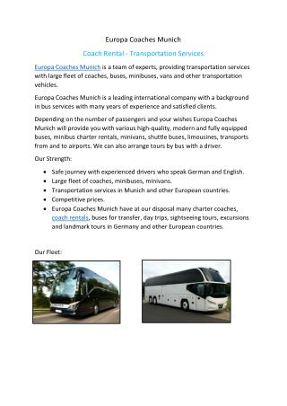 Coach Rental Munich