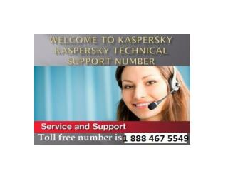 kaspersky Antivirus 1 888 467 5549 technical support phone number