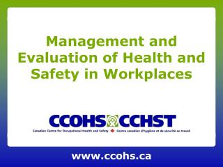 Management and Evaluation of Health and Safety in Workplaces