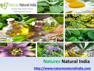 Buy 100% Pure & Certified Organic Oils @ Naturesnaturalindia.com!!