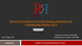Global and US HVAC (Heating Ventilation Air Conditioning) Market Trends and Growth Analysis to 2015