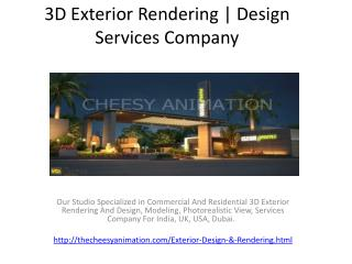 3D Exterior Rendering | Design Services Company