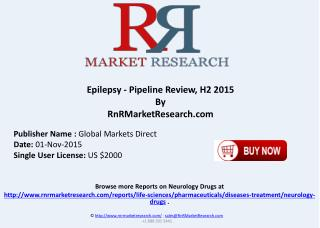 Epilepsy Pipeline Review H2 2015