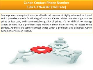 Canon Phone Number  ||| 1-877-776-4348 number toll free