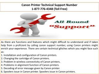 Canon Phone Number  |||| 1-877-776-4348 number toll free