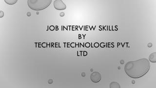 Job interview skills by techrel technologies pvt. ltd.