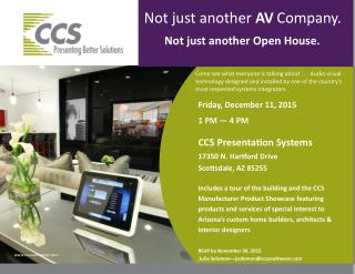 CCS Presentation Healthcare Open House