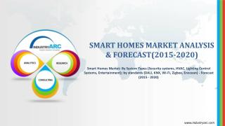 Global Smart Homes Market is estimated to reach $68bn by 2018